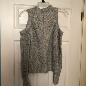 Express open shoulder sweater